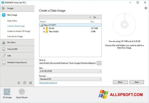 Screenshot DAEMON Tools Lite Windows XP