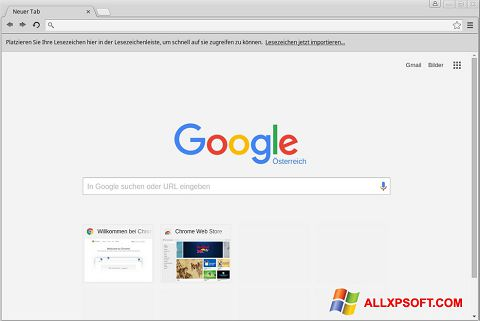 Screenshot Google Chrome Windows XP