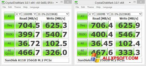Screenshot CrystalDiskMark Windows XP