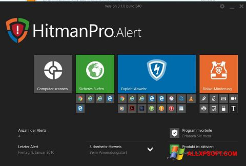 Screenshot HitmanPro Windows XP