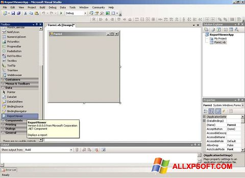 Screenshot Microsoft Visual Studio Windows XP