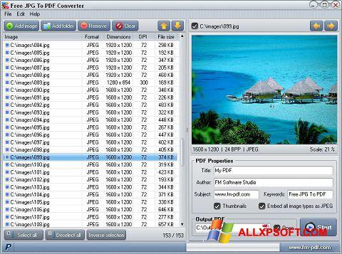 Screenshot JPG to PDF Converter Windows XP