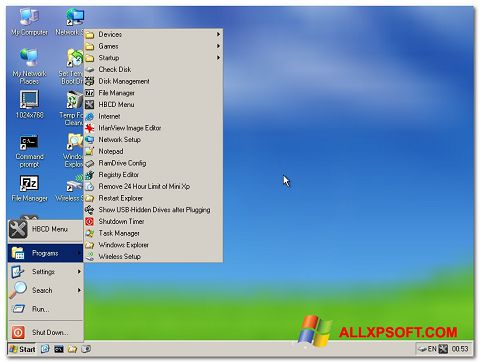 Screenshot Hirens Boot CD Windows XP