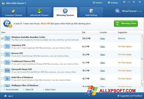 Screenshot Wise Disk Cleaner Windows XP
