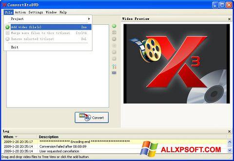 Screenshot ConvertXToDVD Windows XP