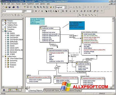 Screenshot ERWin Windows XP