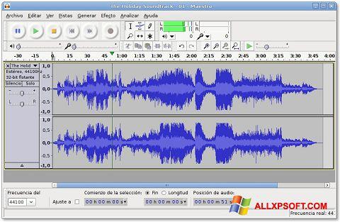 Screenshot Audacity Windows XP