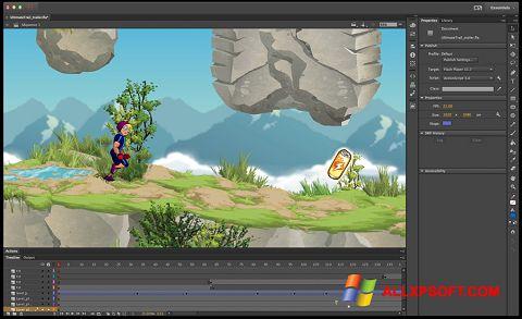 Screenshot Adobe Flash Professional Windows XP
