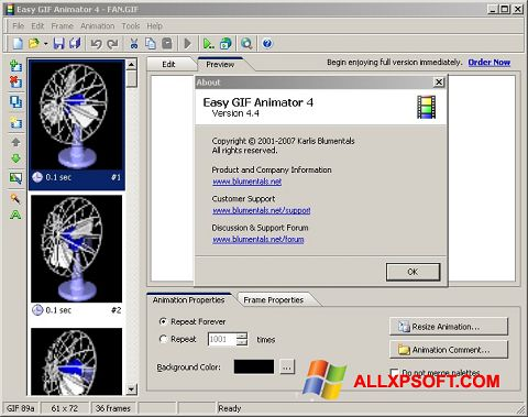Screenshot Easy GIF Animator Windows XP