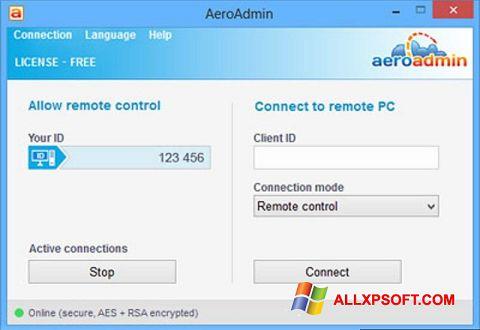 Screenshot AeroAdmin Windows XP